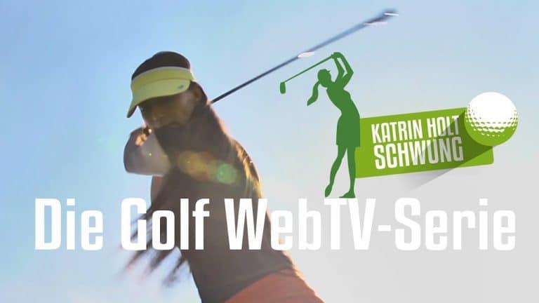 Golf lernen - Katrin holt Schwung