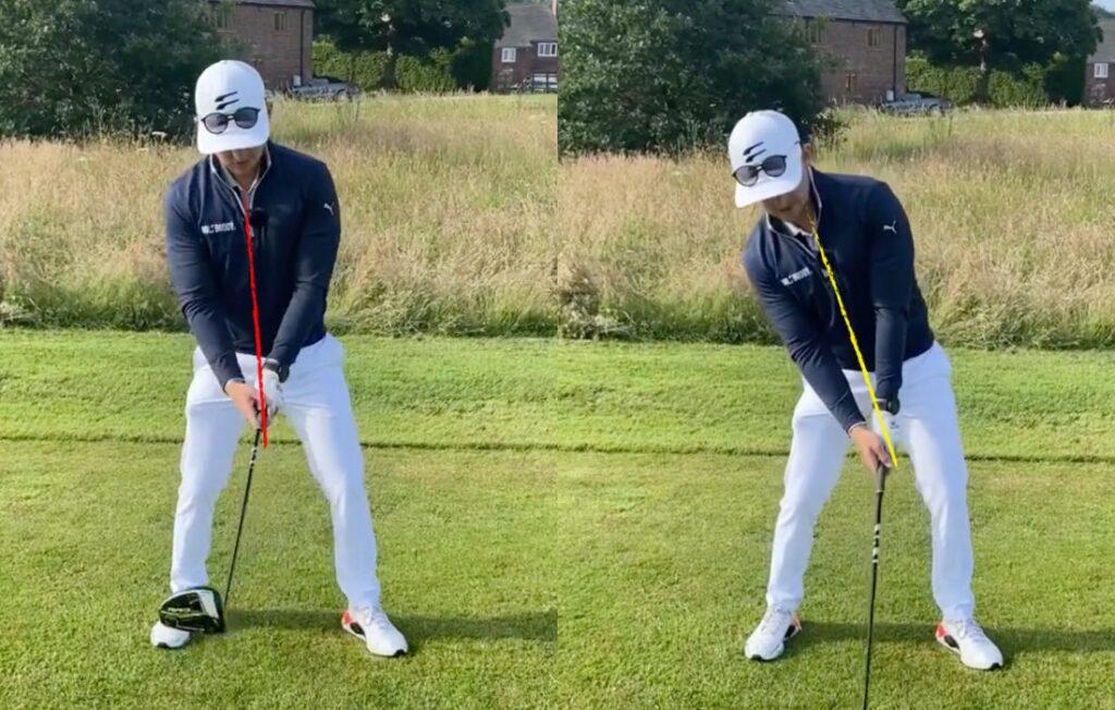 Golfballmarkierungen: Augen auf den Ball gerichtet