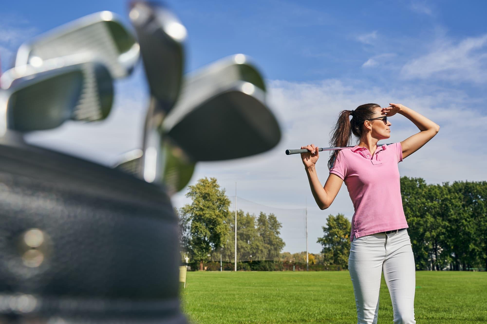 Länge der Drives beim Golf